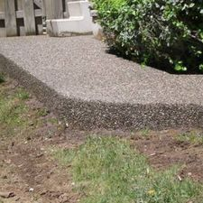 exposed aggregate concrete project